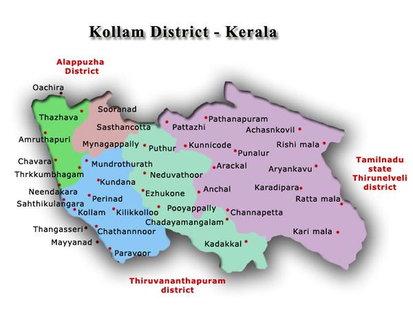 kollam district of kerala kollam district information