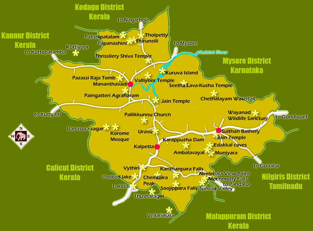 wayanad district of kerala wayanad district guide maps facts kerala - wayanad district facts
