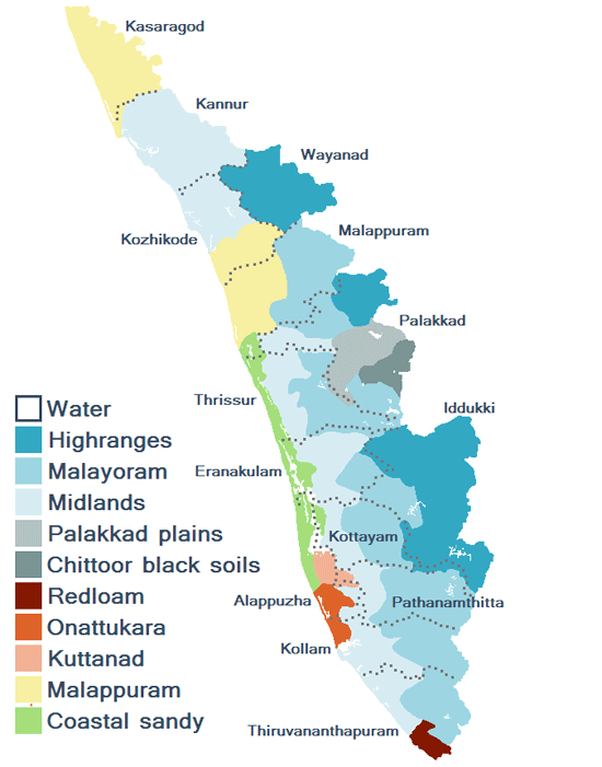 Kerala State Map Kerala Tourism District Map Kerala Tourist Map – Kerala Tourist Map