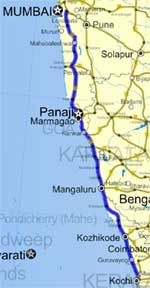 NH17 - National Highway 17 in Kerala Route Map