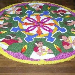 Onam Pookalam Flower Carpet