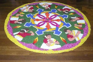 Onam Pookalam Flower Carpet