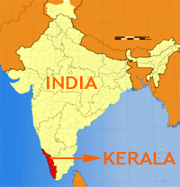 Kerala Location on Map of India