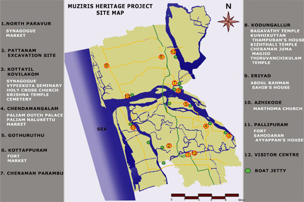 Muziris Heritage Project Map